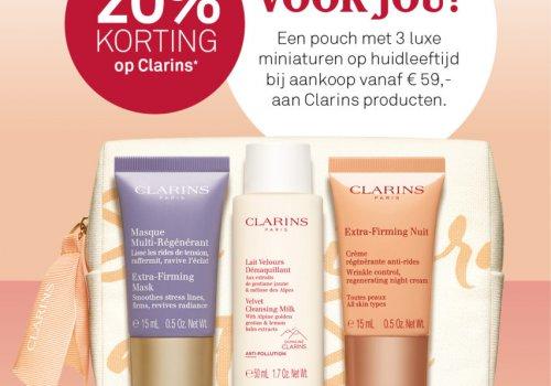CLARINS - 20% KORTING